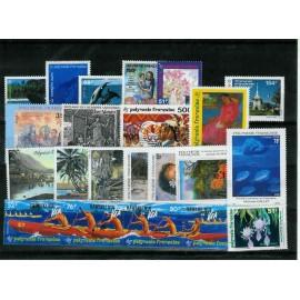 Polynesie annee complete 1994 ** MNH