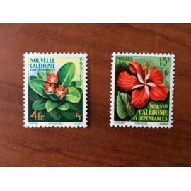 NOUVELLE CALEDONIE Num 288-289 ** MNH ANNEE 1958 Flore