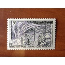 TAAF Yvert Num 8 Année Géophysique Internationale ANNEE 1957