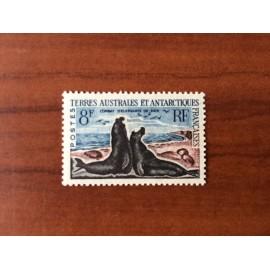 TAAF Yvert Num 13C Elephants de mer ANNEE 1959