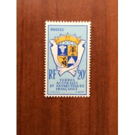 TAAF Yvert Num 15 Armoiries ANNEE 1959