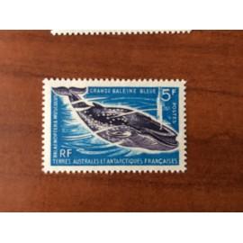 TAAF Yvert Num 22 Faune Marine Baleine Bleue ANNEE 1966