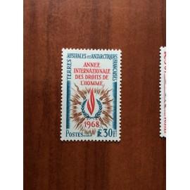 TAAF Yvert Num 27 Droit de  l'homme ANNEE 1968