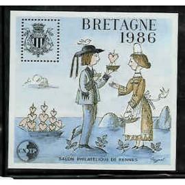 Bloc CNEP Num 7 Yvert ** Peynet Bretagne 1986