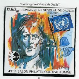 Bloc CNEP Num 21 Yvert ** De Gaulle