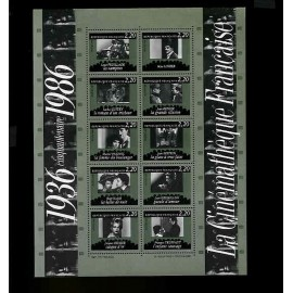 France Bloc num Yvert 9 ** MNH 1986 Cinema