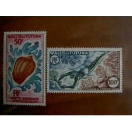 Wallis et Futuna  PA 18-19 ** MNH sans charniere année 1962 plongee