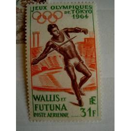 Wallis et Futuna  PA 21 ** MNH sans charniere année 1964 lancer tokyo JO