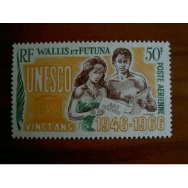 Wallis et Futuna  PA 28 ** MNH sans charniere année 1966 UNESCO