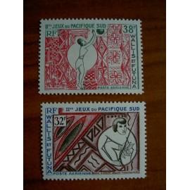 Wallis et Futuna  PA 29-30 ** MNH sans charniere année 1966