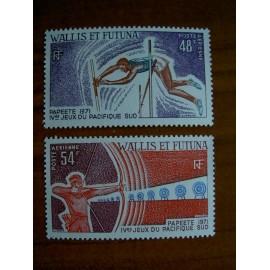 Wallis et Futuna  PA 39-40 ** MNH sans charniere année 1971 sport