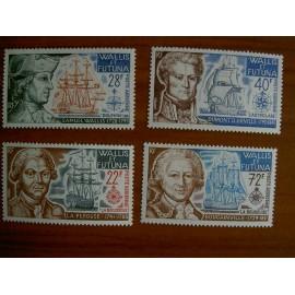 Wallis et Futuna  PA 44-47 ** MNH sans charniere année 1973 navigteur