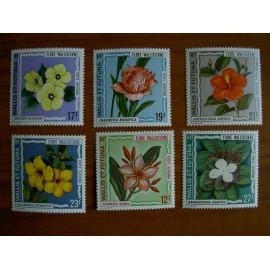 Wallis et Futuna  PA 49-55 ** MNH sans charniere année 1973 Fleurs