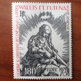 Wallis et Futuna  PA 100 ** MNH sans charniere année 1979 Noel Durer Vierge