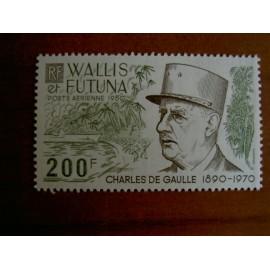 Wallis et Futuna  PA 106 ** MNH sans charniere année 1980 Général De Gaulle