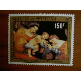 Wallis et Futuna  PA 107 ** MNH sans charniere année 1980 Noel Tableau Lorenzo Lotto