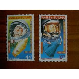 Wallis et Futuna  PA 108-109 ** MNH sans charniere année 1981 Shepard et Gagarine