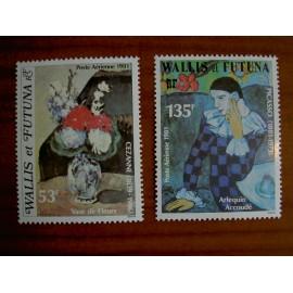 Wallis et Futuna  PA 110-111 ** MNH sans charniere année 1981 Paul Cezanne et Pablo Picasso