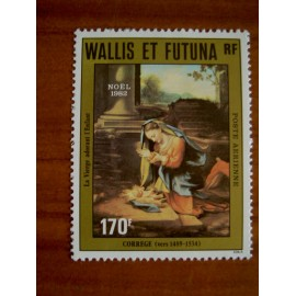 Wallis et Futuna  PA 121 ** MNH sans charniere année 1982 Noel de Correge Tableau