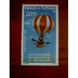 Wallis et Futuna  PA 124 ** MNH sans charniere année 1983 Montgolfière