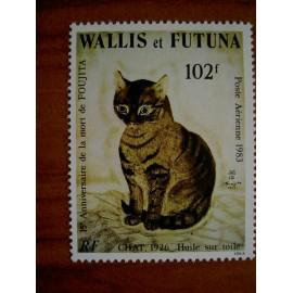 Wallis et Futuna  PA 125 ** MNH sans charniere année 1983 Chat huile de Tsugouharu