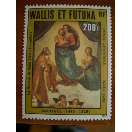 Wallis et Futuna  PA 131 ** MNH sans charniere année 1983 Noel Tableau de Raphael