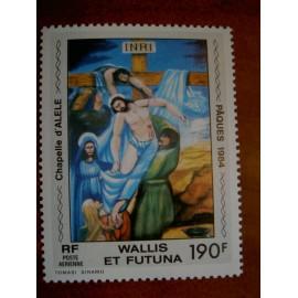 Wallis et Futuna  PA 135 ** MNH sans charniere année 1984 Descente de Croix Jesus