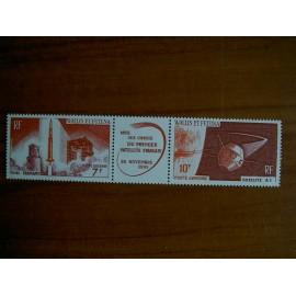Wallis et Futuna  PA 24-25 ** MNH sans charniere année 1966 25A