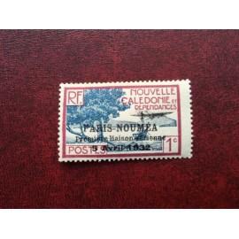 NOUVELLE CALEDONIE PA Num 3 * MH avec charniere ANNEE 1933 Paris-Noumea