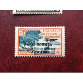 NOUVELLE CALEDONIE PA Num 5 * MH avec charniere ANNEE 1933 Paris-Noumea