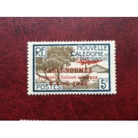 NOUVELLE CALEDONIE PA Num 6 * MH avec charniere ANNEE 1933 Paris-Noumea