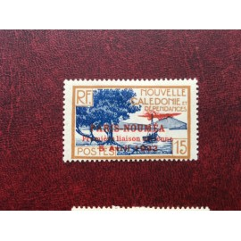 NOUVELLE CALEDONIE PA Num 8 * MH avec charniere ANNEE 1933 Paris-Noumea