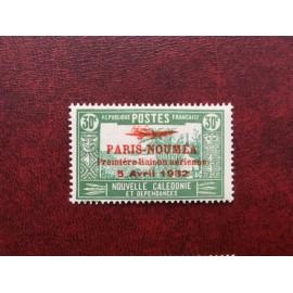 NOUVELLE CALEDONIE PA Num 11 * MH avec charniere ANNEE 1933 Paris-Noumea