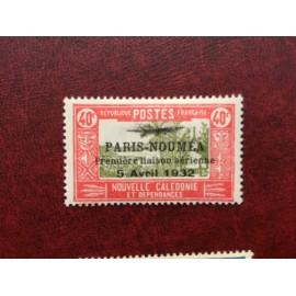 NOUVELLE CALEDONIE PA Num 13 * MH avec charniere ANNEE 1933 Paris-Noumea