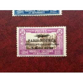 NOUVELLE CALEDONIE PA Num 15 * MH avec charniere ANNEE 1933 Paris-Noumea