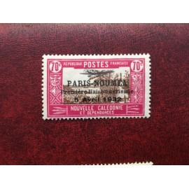 NOUVELLE CALEDONIE PA Num 16 * MH avec charniere ANNEE 1933 Paris-Noumea