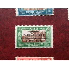 NOUVELLE CALEDONIE PA Num 18 * MH avec charniere ANNEE 1933 Paris-Noumea
