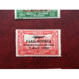 NOUVELLE CALEDONIE PA Num 19 * MH avec charniere ANNEE 1933 Paris-Noumea