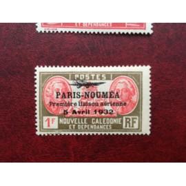 NOUVELLE CALEDONIE PA Num 20 * MH avec charniere ANNEE 1933 Paris-Noumea