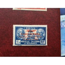NOUVELLE CALEDONIE PA Num 22 * MH avec charniere ANNEE 1933 Paris-Noumea