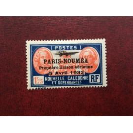 NOUVELLE CALEDONIE PA Num 23 * MH avec charniere ANNEE 1933 Paris-Noumea