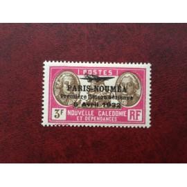 NOUVELLE CALEDONIE PA Num 25 * MH avec charniere ANNEE 1933 Paris-Noumea