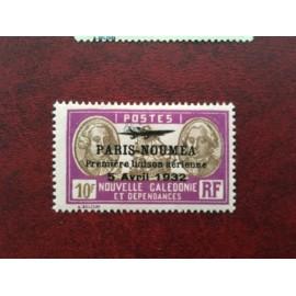 NOUVELLE CALEDONIE PA Num 26 * MH avec charniere ANNEE 1933 Paris-Noumea