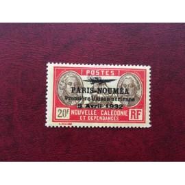 NOUVELLE CALEDONIE PA Num 28 * MH avec charniere ANNEE 1933 Paris-Noumea