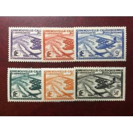 NOUVELLE CALEDONIE PA Num 29-34 * MH avec charniere ANNEE 1938 Avec RF