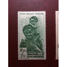 NOUVELLE CALEDONIE PA Num 36 * MH avec charniere ANNEE 1942
