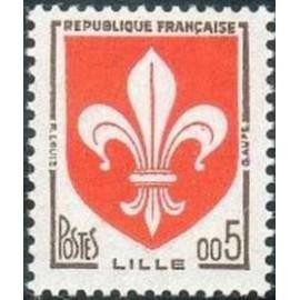 France 1230a ** Armoiries LILLE Gomme tropicale en 1960