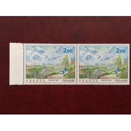 France 2136b ** tableaux Pissaro arbre vert   en 1982