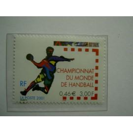 France 3367 ** Handball  en 2001