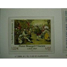 France 3369 ** Tableau Bruegel  en 2001